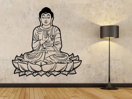Samolepky na zeď Sedící Budha 1297