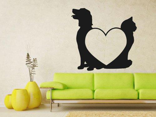 Samolepky na zeď Kočka a pes 0539