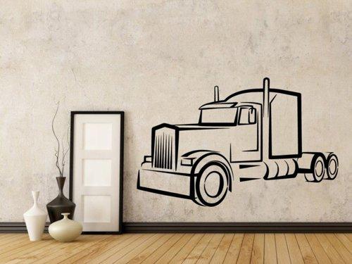 Samolepky na zeď Kamion 0737
