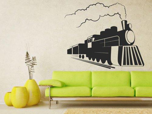 Samolepky na zeď Parní lokomotiva 0807