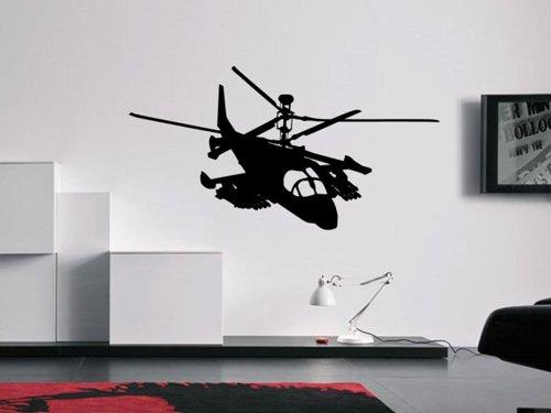 Samolepky na zeď Helikoptéra vojenská 0810