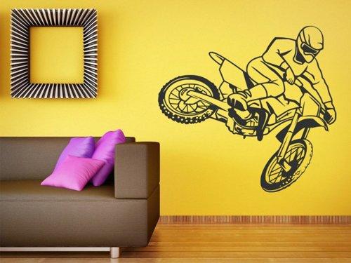 Samolepky na zeď Motokros 0988