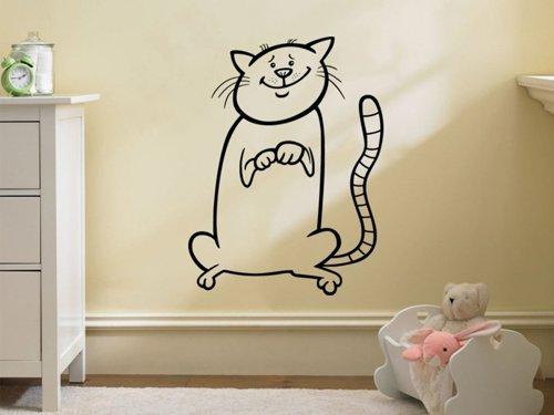 Samolepky na zeď Kočička 0518