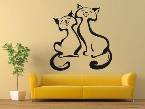 Samolepky na zeď Dvě kočky 0439