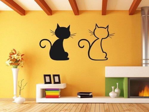 Samolepky na zeď Dvě kočky 0440