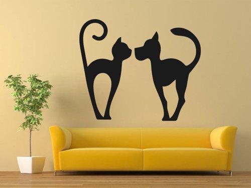 Samolepky na zeď Kočka a pes 0566