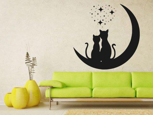 Samolepky na zeď Dvě kočky 0475