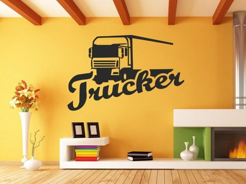 Samolepky na zeď Kamion s nápisem Trucker 0751