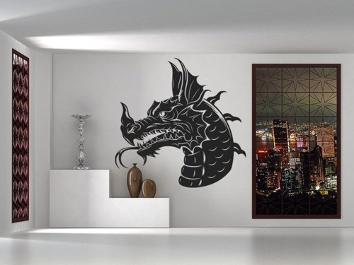 Samolepky na zeď Hlava draka 1260