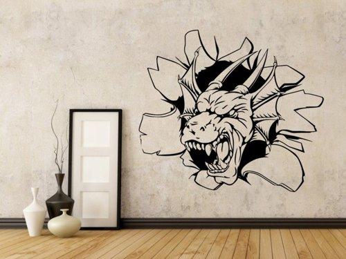 Samolepky na zeď Hlava draka 1259