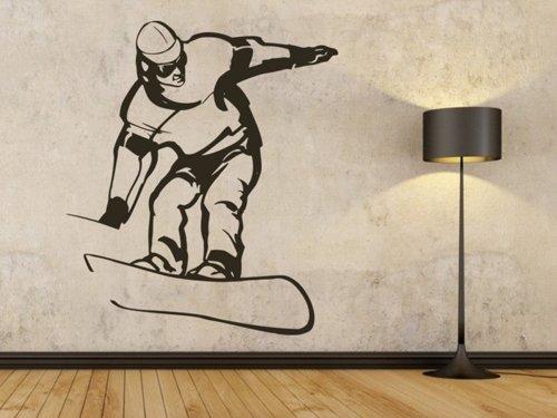 Samolepky na zeď Snowboardista 006