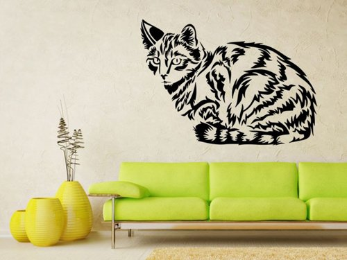 Samolepky na zeď Kočka 0457