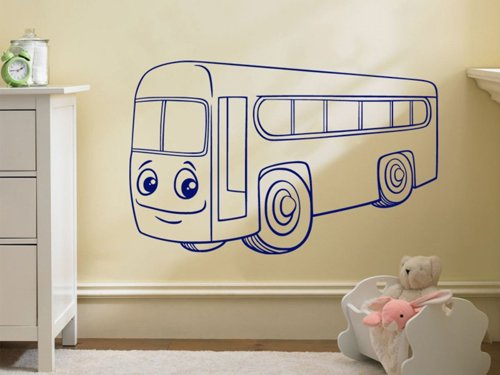 Samolepky na zeď Autíčko autobus 0780