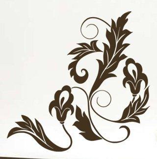 Samolepka Ornamenty z rostlin 023 - 102x100 cm