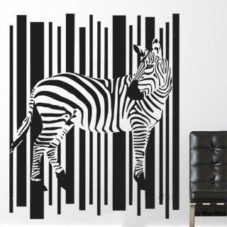 Samolepka na zeď Zebra 006 - 100x121 cm