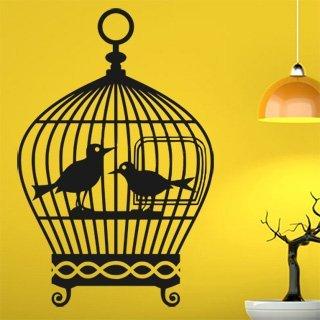 Samolepka na zeď Ptačí klec 001 - 60x92 cm