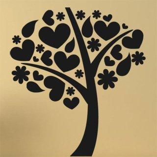 Nálepka na zeď Strom zamilovaných 0219 - 110x120 cm