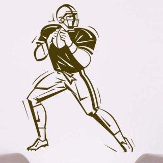 Samolepka na zeď Americký fotbalista 003 - 60x79 cm