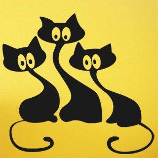 Samolepka na zeď Kočička 007 - 65x60 cm