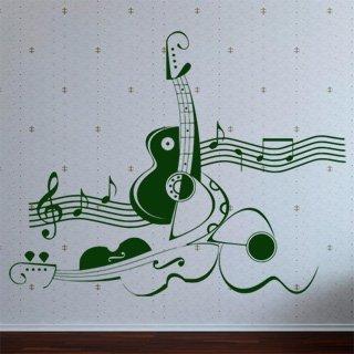 Samolepka na zeď Kytara 011 - 100x80 cm