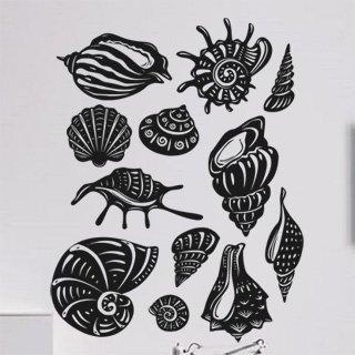 Samolepka Sada mušlí 001 - 120x153 cm