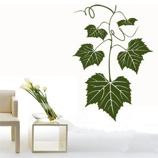 Samolepka na zeď Listy z hroznů 001 - 60x87 cm