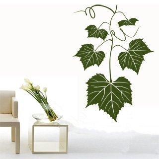 Nálepka na zeď Listy z hroznů 001 - 100x145 cm