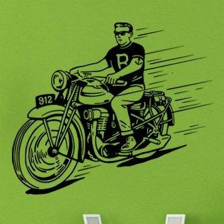 Samolepící dekorace Motorka 021 - 142x120 cm