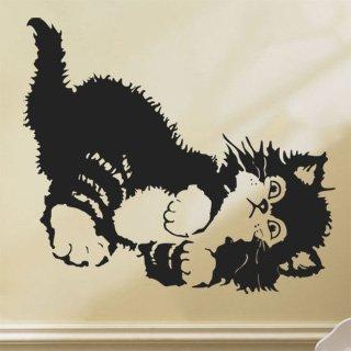 Nálepka na zeď Koťátko 001 - 120x106 cm