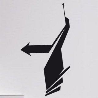Samolepka na zeď Šipka 015 - 60x113 cm