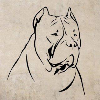 Samolepka Doga 002 - 80x92 cm