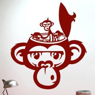Samolepka Opička 002 - 80x94 cm