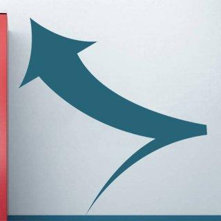 Nálepka na zeď Šipka 004 - 115x120 cm