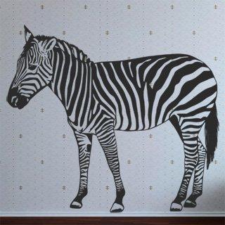 Nálepka na zeď Zebra 013 - 136x120 cm