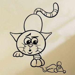 Nálepka na zeď Kočička 0525 - 100x126 cm