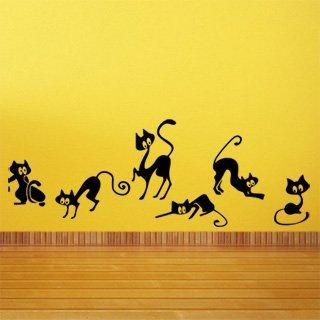 Samolepka na zeď Kočička 004 - 120x43 cm