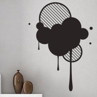 Samolepící dekorace Kruhy 002 - 100x139 cm