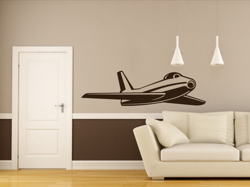 Samolepka na zeď Letadlo 011