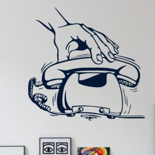 Samolepka na zeď Telefon 001 - 63x60 cm
