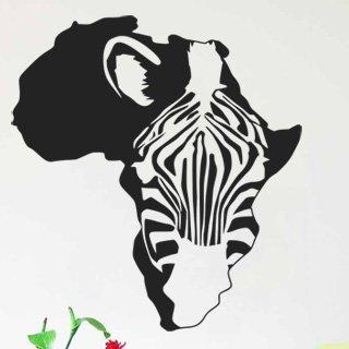 Samolepící dekorace Zebra 008 - 120x131 cm