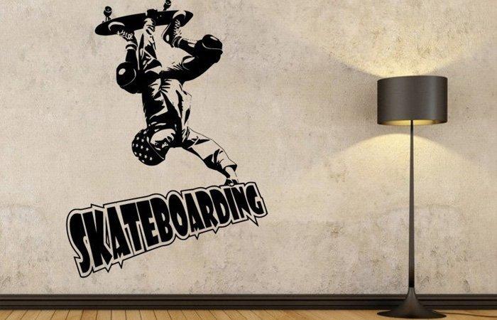 Samolepicí dekorace Skateboardista pro freestyle šílence
