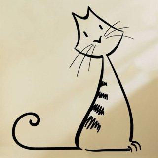 Samolepka na stěnu Kočka 0495 - 106x120 cm