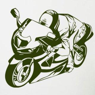 Samolepící dekorace Motorka 026 - 120x108 cm