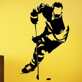Samolepka na zeď Hokejista 0610 - 60x97 cm