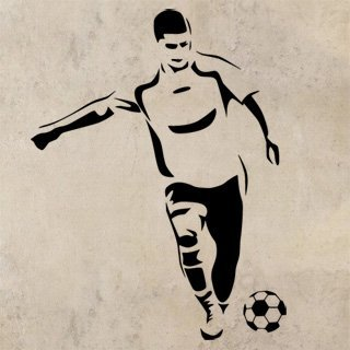 Samolepka na stěnu Fotbalista 0589 - 120x155 cm