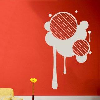 Samolepka na stěnu Kruhy 003 - 120x202 cm