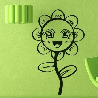 Samolepka na zeď Květiny 011 - 60x97 cm
