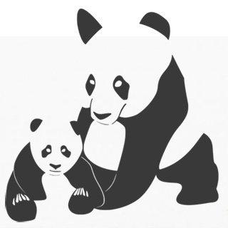 Samolepka na zeď Panda 001 - 60x60 cm