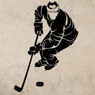Samolepka na zeď Hokejista 0597 - 60x85 cm