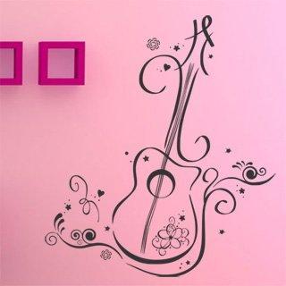 Samolepící dekorace Kytara 007 - 106x120 cm